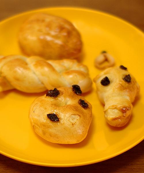 娘が作ったおいしいパン