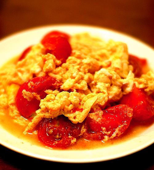 トマトと卵の中華風